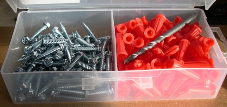 KIT for installs of cable tie blocks (100 anchors,screws,1 bit) (SKU: PA1012KW)