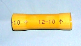 Butt connector   YELLOW  vinyl (12-10 AWG wire size) (SKU: GBSV-10)