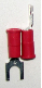 Fork type terminal connector,stud size # 10 (RED) (SKU: GSTV-18-10)