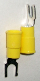 Fork type terminal connector,stud size #10  (YELLOW) (SKU: GSTV-10-10)