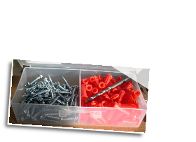 KIT for installs of cable tie blocks (100 anchors,screws,1 bit)