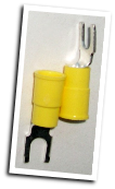 Fork type terminal connector,stud size #8 (YELLOW)